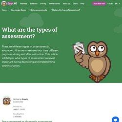 7 types d'évaluations dans l'éducation