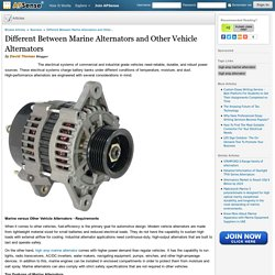 Different Between Marine Alternators and Other Vehicle Alternators