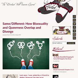Same/Different: How Bisexuality and Queerness Overlap and Diverge