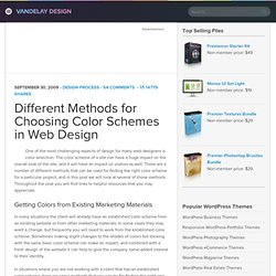 Different Methods for Choosing Color Schemes in Web Design