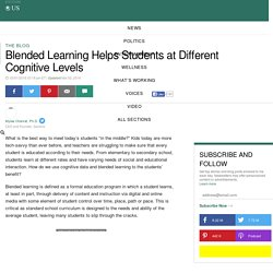 Blended Learning Helps Students at Different Cognitive Levels
