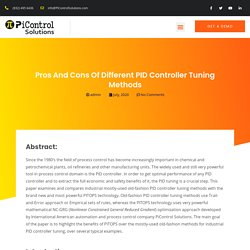 Pros and Cons of Different PID Controller Tuning Methods - Pi Control Solutions