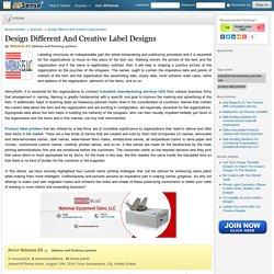 Design Different And Creative Label Designs