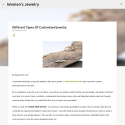 Different Types Of Customized jewelry