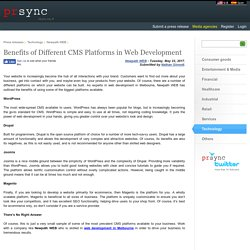 Benefits of Different CMS Platforms in Web Development
