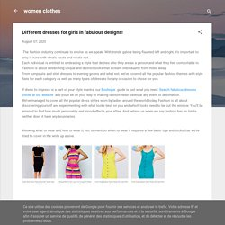 Different dresses for girls in fabulous designs!