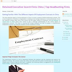 Getting Familiar With The Different Aspects Of Employment Contracts In China