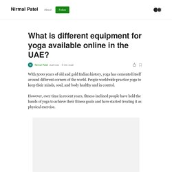 What is different equipment for yoga available online in the UAE?