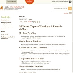 Different Types of Families: A Portrait Gallery