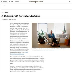 A Different Path to Fighting Addiction