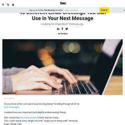 40 Different Email Greetings You Can Use in Your Next Message