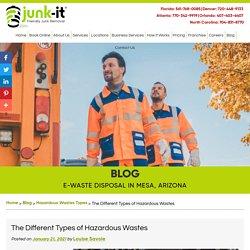 The Different Types of Hazardous Wastes