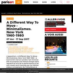 « A Different Way To Move » : l'histoire de l'art minimal : Paris Art