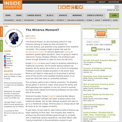 The Minerva project plans for different kind of online education