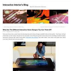 Multi touch screen tables by Interactive Interior