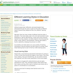 Different Learning Styles in Education
