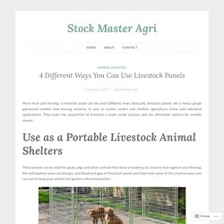 4 Different Ways You Can Use Livestock Panels – Stock Master Agri