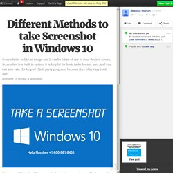 Different Methods to take Screenshot in Windows 10