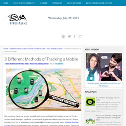 3 Different Methods of Tracking a Mobile