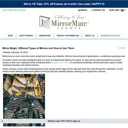 Mirror Magic: Different Types of Mirrors and How to Use Them