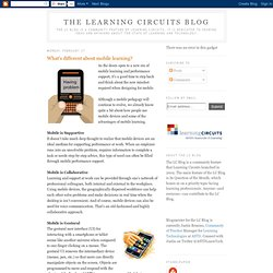 What's different about mobile learning?