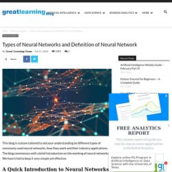 Different Types of Neural Networks - Great Learning