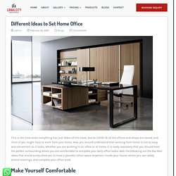 Different Ideas to Set Home Office - The Canalcity