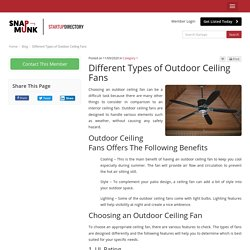 Different Types of Outdoor Ceiling Fans