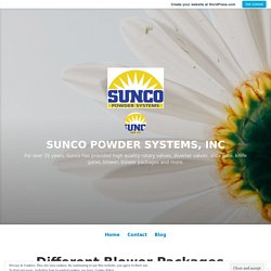 Different Blower Packages in SUNCO Powder Systems – SUNCO POWDER SYSTEMS, INC