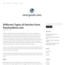 Different Types of Patches from Patches4less.com