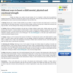 Different ways to boost a child mental, physical and emotional strength by Thall Sg