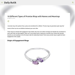 10 Different Types of Promise Rings with Names and Meanings