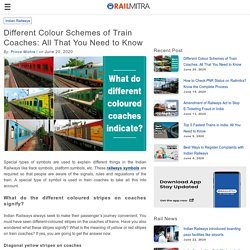 Different Colour Schemes of Train Coaches: All That You Need to Know