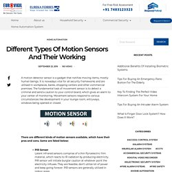 Different Types Of Motion Sensors And Their Working