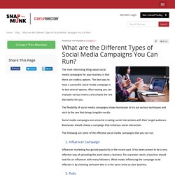 What are the Different Types of Social Media Campaigns You Can Run?
