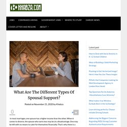 What Are The Different Types Of Spousal Support?