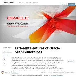 Different Features of Oracle WebCenter Sites 12c