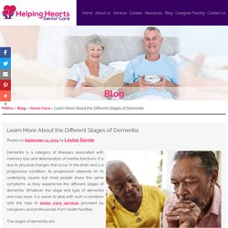 Learn More About the Different Stages of Dementia
