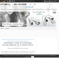 Different Types of Sterling Silver Jewelry in a Cheap Price