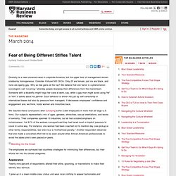Fear of Being Different Stifles Talent