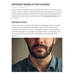 DIFFERENT BEARD STYLES FOR MEN – Telegraph