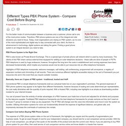 Different Types PBX Phone System - Compare Cost Before Buying
