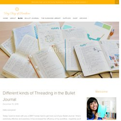 Different kinds of Threading in the Bullet Journal — Tiny Ray of Sunshine