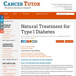 Different Natural Treatments for Diabetes Type I (1)