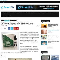 Different Types of CBD Products -