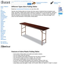 Different Types Alera Folding Tables