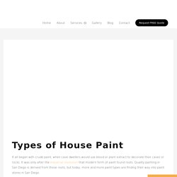 The Different Types of House Paints