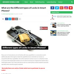 What are the Different types of Locks in Smart Phones?
