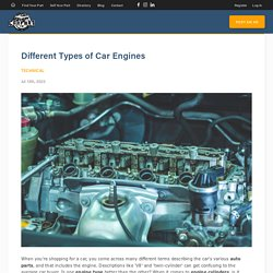 Types of car engines - CarpartAU