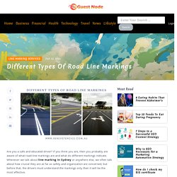 Different Types Of Road Line Markings